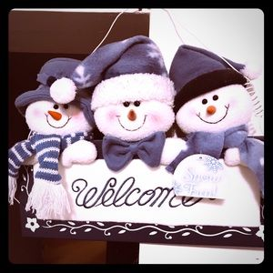 Other - Welcoming Snowmen Trio Door Sign